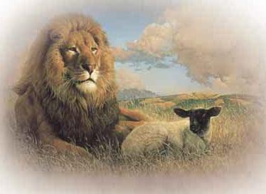 """El profeta José Smith enseñó que """"cuando los hombres pierdan su disposición maligna y cesen de destruir la raza animal, el león y el cordero vivirán juntos""""."""